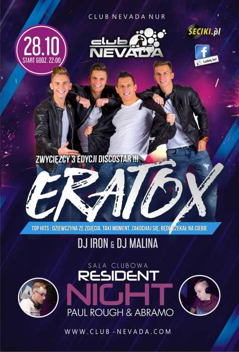 Nevada (Nur) - Eratox & Resident Night (28.10.2017)
