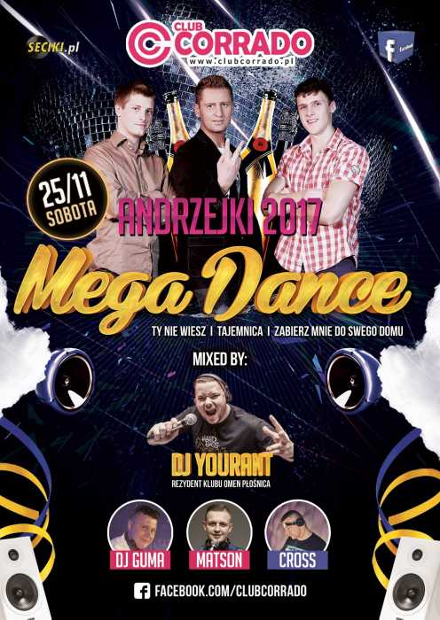 Corrado (Suchowola) - ANDRZEJKI & Koncert zespołu Mega Dance (25.11.2017)