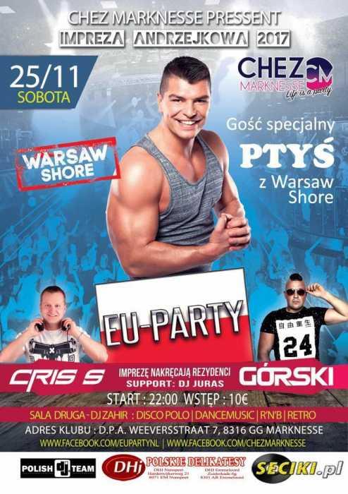 Chez Marknesse (NL) - ANDRZEJKI (25.11.2017) - kluby, festiwale, plenery, klubowa muza, disco polo