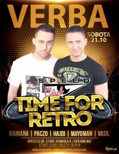 SpeedClub - Koncert VERBA vs. TIME for RETRO 21.10.2017