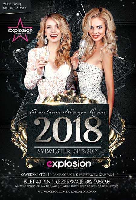 Wyjątkowy Sylwester - Szwedzki Stół w Explosion Borkowo (31.12.2017) - kluby, festiwale, plenery, klubowa muza, disco polo