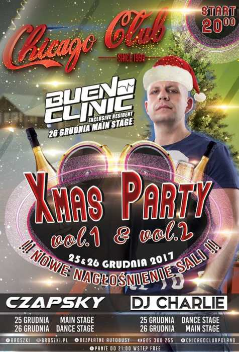 Chicago Club (Broszki) - X-Mas Party (25,26.12.2017) - kluby, festiwale, plenery, klubowa muza, disco polo
