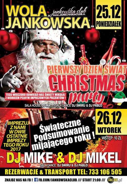 Jankowska Club (Wola Jankowska) - Christmas Party (25,26.12.2017) - kluby, festiwale, plenery, klubowa muza, disco polo