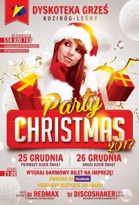 Dyskoteka Grześ (Koziróg Leśny) - Christmas Party (25,26.12.2017) - kluby, festiwale, plenery, klubowa muza, disco polo