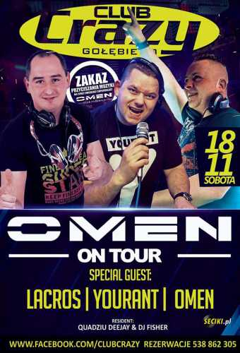 Crazy Club (Gołębiewo)  - Omen On Tour (18.11.2017)