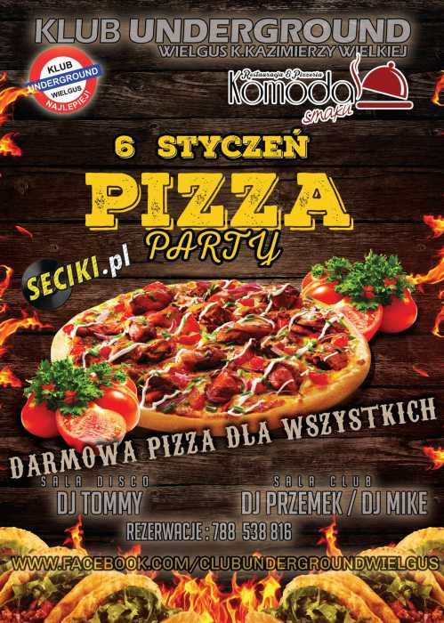 Klub Underground (Wielgus) - Pizza Party (6.01.2018)