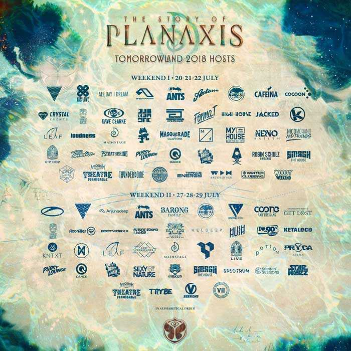 Pierwsze zestawienie lineup'u na tegoroczny Tomorrowland 2018 (20-22.07.18) - kluby, festiwale, plenery, klubowa muza, disco polo