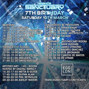 Trance Sanctuary 7th Birthday @ Egg, London UK (10.03.18)
