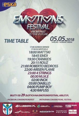 Emotions Festival (Karlino)  - Time Table (5.05.2018)