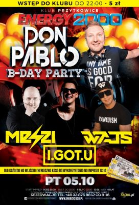 Energy2000 - B-DAY PARTY DON PABLO 05.10.2018