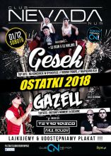 Club Nevada Nur - Gesek & Gazell (1.12.2018) - kluby, festiwale, plenery, klubowa muza, disco polo