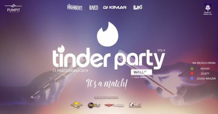 Wall Street Club - Tinder Party vol. 4 (13.10.2019) - kluby, festiwale, plenery, klubowa muza, disco polo